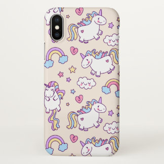 Cute & Colorful Rainbows and Unicorn iPhone X Case