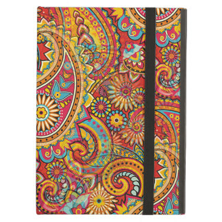 Cute Colorful Retro Chic Paisley Floral Pattern iPad Air Case