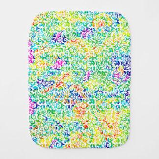 Cute colorful seamless flowers pattern burp cloth