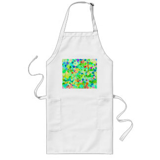 Cute colorful spiral cosmos patterns long apron