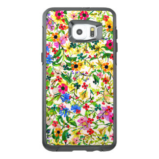 Cute colorful spring floral flowers OtterBox samsung galaxy s6 edge plus case