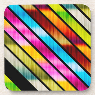 Cute colorful stripes coaster