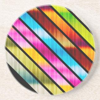 Cute colorful stripes coaster