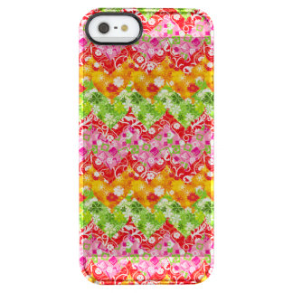 Cute colorful summer zigzag pattern clear iPhone SE/5/5s case