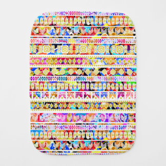 Cute colorful tribal aztec pattern burp cloth