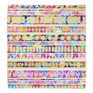 Cute colorful tribal aztec pattern decorative kerchiefs