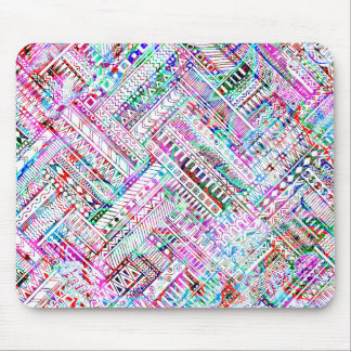 Cute colorful tribal pattern mouse mat
