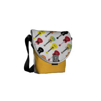 Cute Colorful Ukulele Patterns Messenger Bags