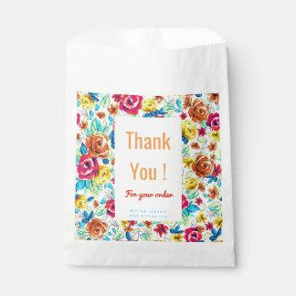 Cute colorful vintage roses patterns favour bags