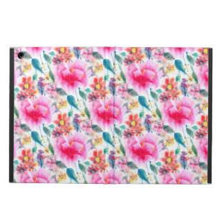 Cute colorful watercolor flowers iPad air case