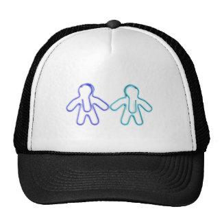 cute coloured paperclip men trucker hats