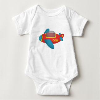 Cute Colourful Aeroplane Jet for Kids Baby Bodysuit