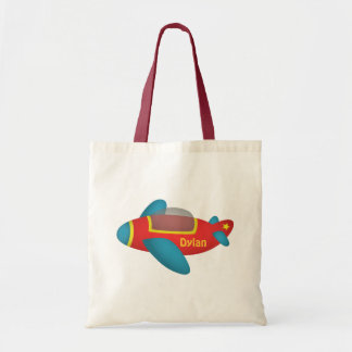 Cute Colourful Aeroplane Jet for Kids Tote Bag