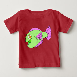 Cute colourful cartoon fish baby T-Shirt