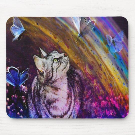 Cute Colourful Cat Mousepad, Cats Mouse Mat