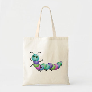 Cute Colourful Caterpillar Tote Bag