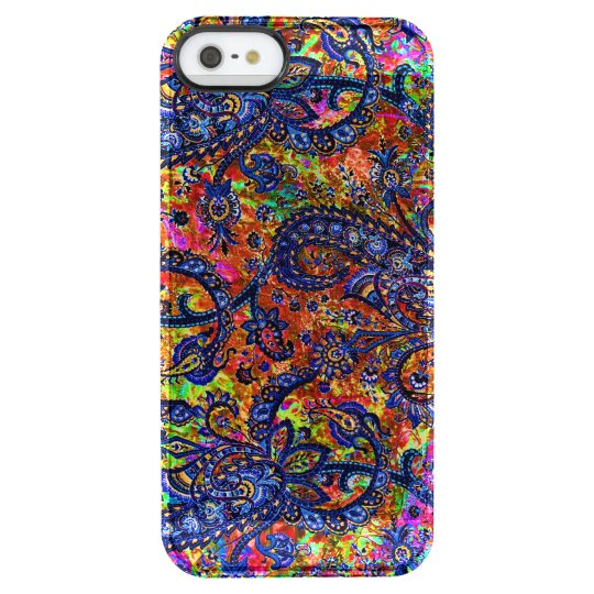 Cute colourful chakra pattern clear iPhone SE/5/5s case