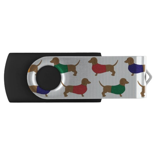 Cute Colourful Dachshund Dogs, USB Flash Drive
