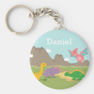 Cute Colourful Dinosaurs For kids Key Chain