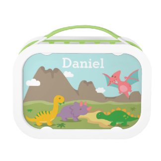 Cute Colourful Dinosaurs For kids Lunch Box