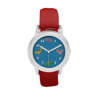 Cute Colourful Dinosaurs for Kids Wristwatches
