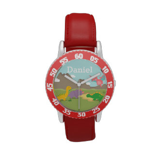 Cute Colourful Dinosaurs For kids Wristwatch