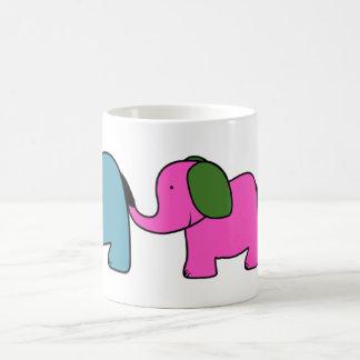 Cute colourful  elephant cartoons coffee mug
