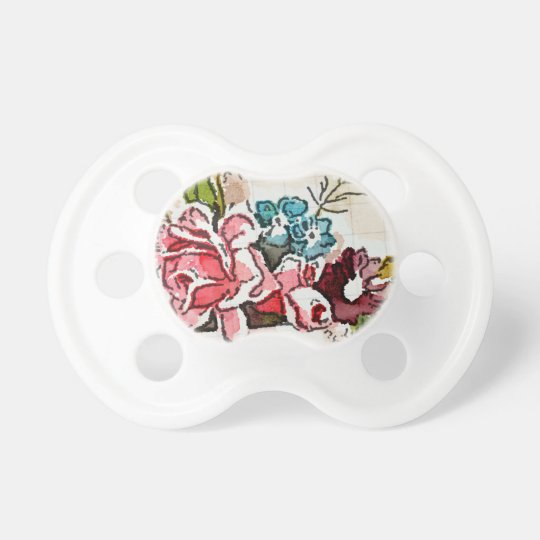 Cute colourful floral baby pacifier