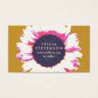 Cute Colourful Floral SunFlower Business Card