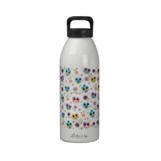 Cute colourful funny trendy heart owls pattern water bottle