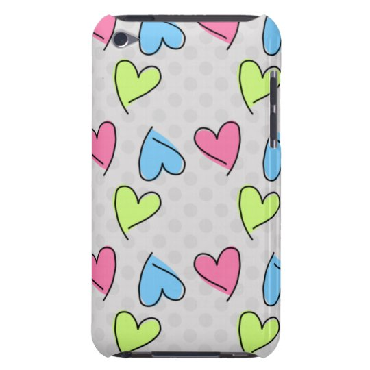 Cute colourful hearts Case-Mate iPod touch case