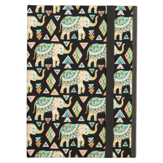 Cute colourful indian elephants pattern case for iPad