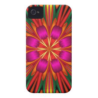 Cute colourful kaleidoscope flower Case-Mate iPhone 4 case