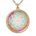 Cute Colourful Lotus Flower Monogram