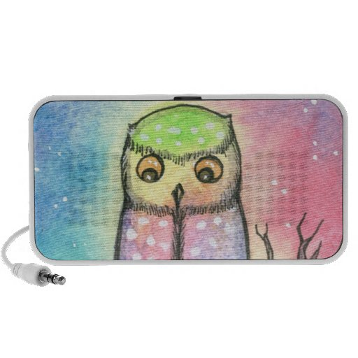 Cute Colourful Owl Doodle Speaker