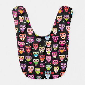 cute colourful owl kids pattern bib