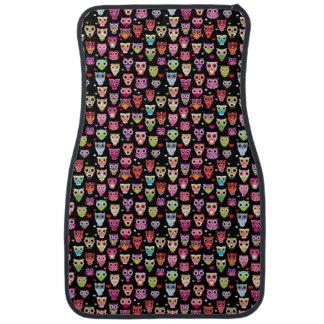 cute colourful owl kids pattern car mat