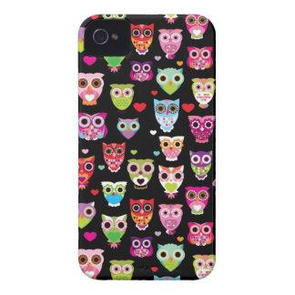 cute colourful owl kids pattern Case-Mate iPhone 4 case