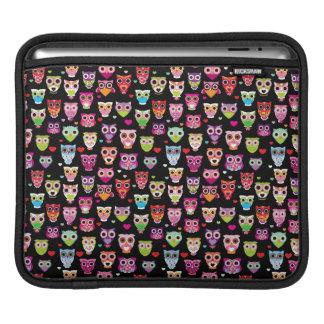 cute colourful owl kids pattern iPad sleeve