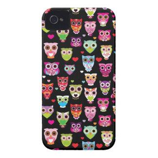 cute colourful owl kids pattern iPhone 4 case