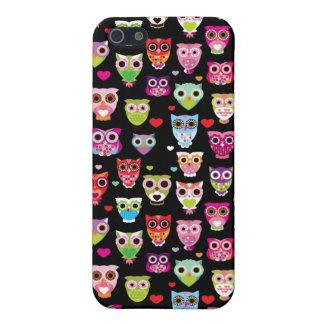cute colourful owl kids pattern iPhone 5/5S case