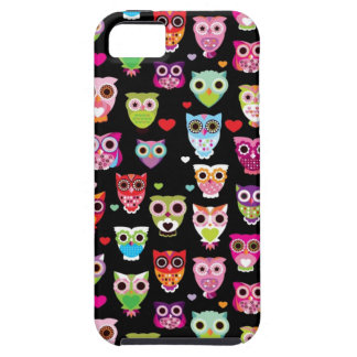 cute colourful owl kids pattern iPhone 5 covers