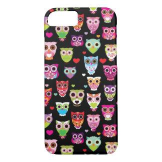 cute colourful owl kids pattern iPhone 7 case