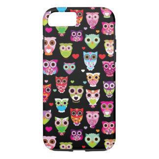 cute colourful owl kids pattern iPhone 8/7 case