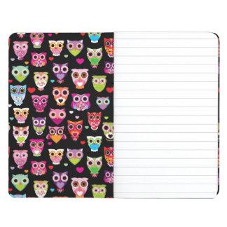 cute colourful owl kids pattern journal