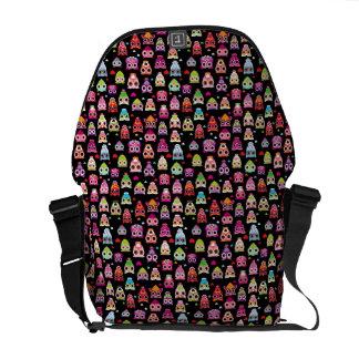 cute colourful owl kids pattern messenger bags