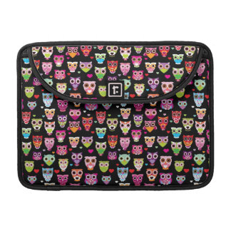 cute colourful owl kids pattern sleeves for MacBooks