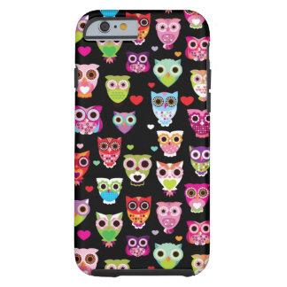 cute colourful owl kids pattern tough iPhone 6 case