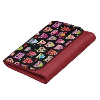 cute colourful owl kids pattern wallets