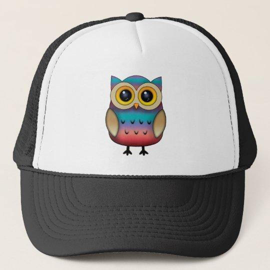 Cute Colourful Owl Trucker Hat